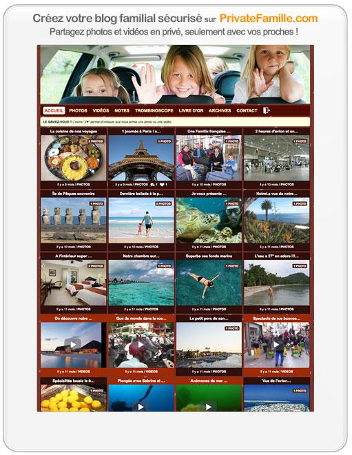 Site sécurisé pour partager des photos : cliquez ici pour créer votre blog familial privé