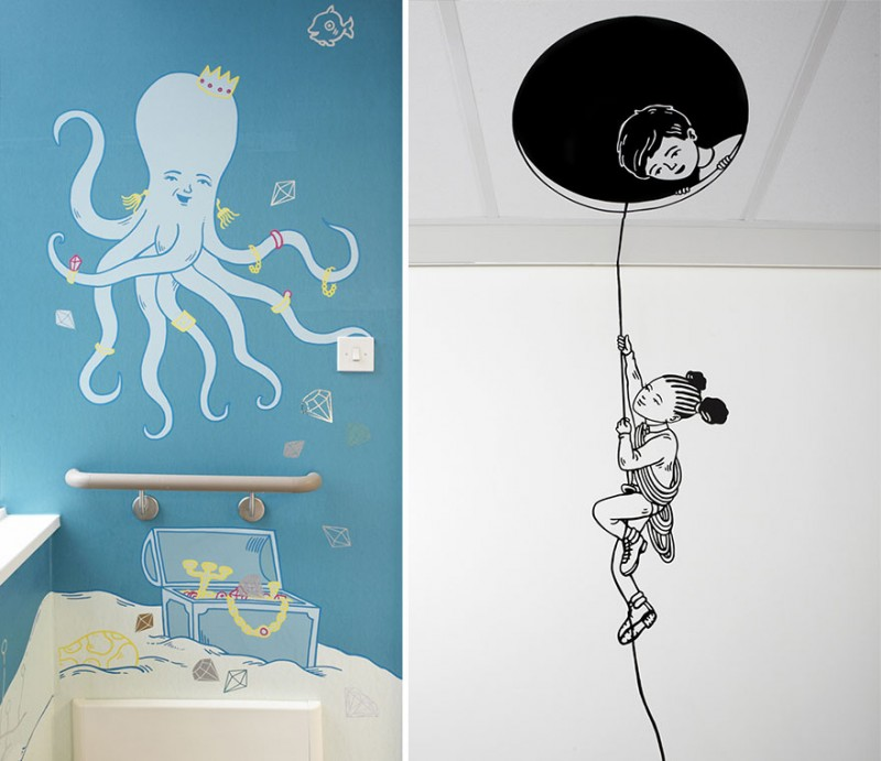 15 artistes Londoniens relookent un hôpital pour enfants